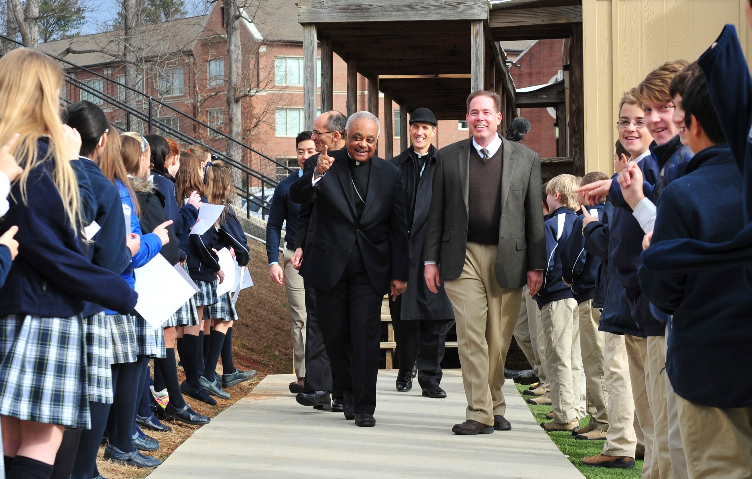 Archbishop Gregory Visits Pinecrest Academy for Founders Day Events