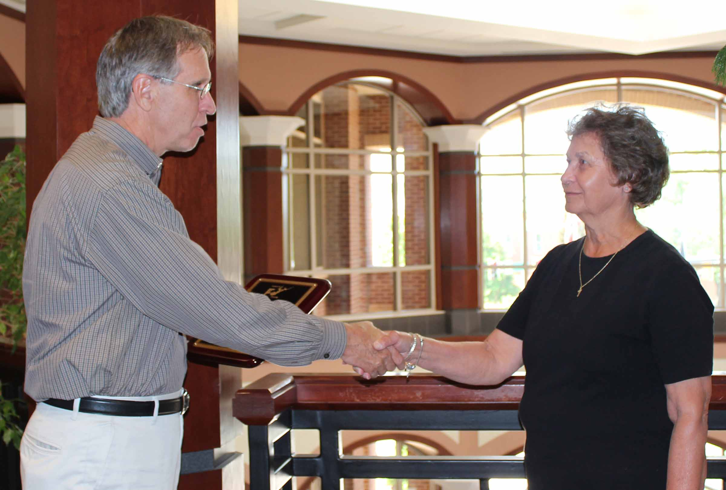 Carder Recognized by County Manager