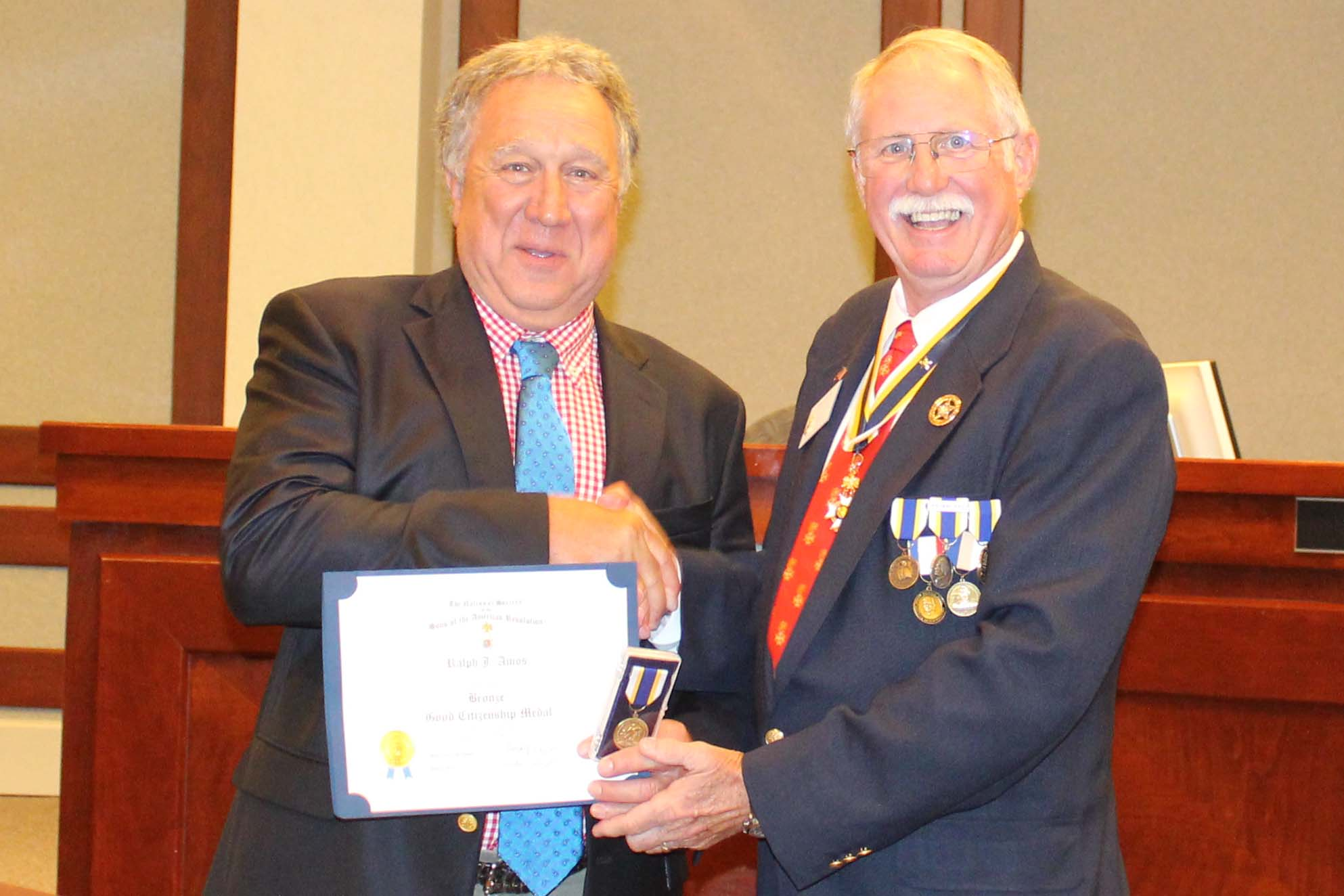 Commission Chairman Amos Receives Citizenship Award