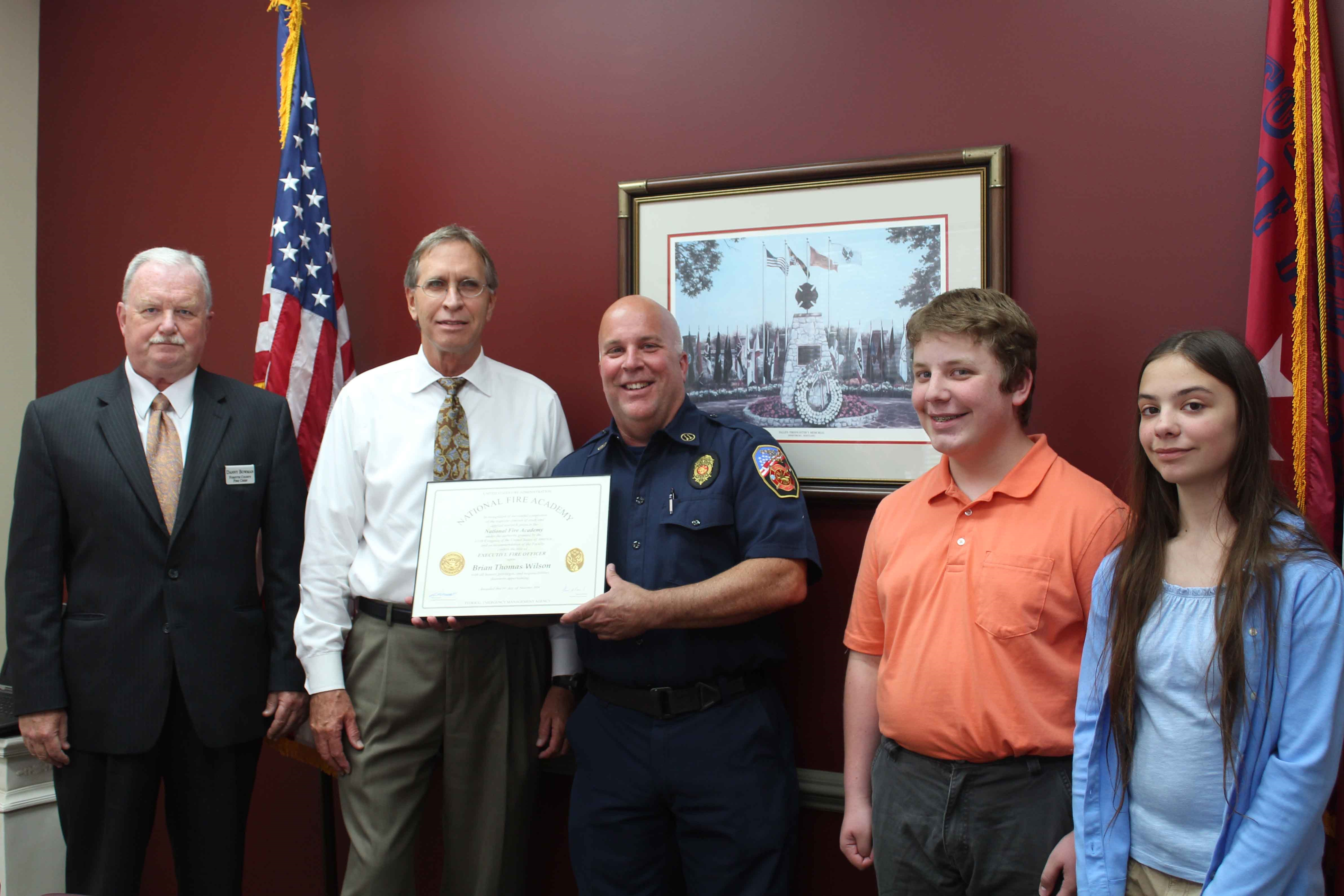 Forsyth Fire Captain Completes Executive Fire Officer Training