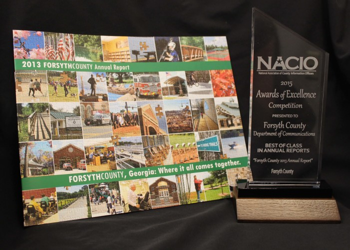 FORSYTH COUNTY GOVERNMENT RECEIVES NATIONAL AWARD