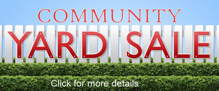 COMMUNITY YARD SALE SEPTEMBER 26