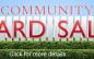 COMMUNITY YARD SALE SEPTEMBER 26